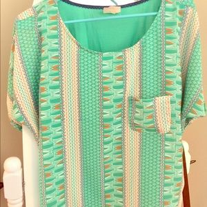 Anthropologie layered blouse
